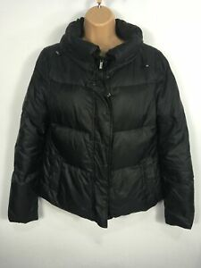 WOMENS-BCBG-MAXAZRIA-BLACK-ZIP-UP-DOWN-PADDED-WINTER-WARM-JACKET-COAT-SIZE-SMALL