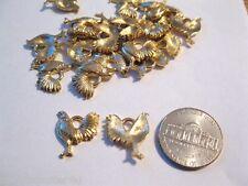 24 LOT Vintage Antiqued Goldtone Findings Oval 14 x 10 Flowers /& Swirls