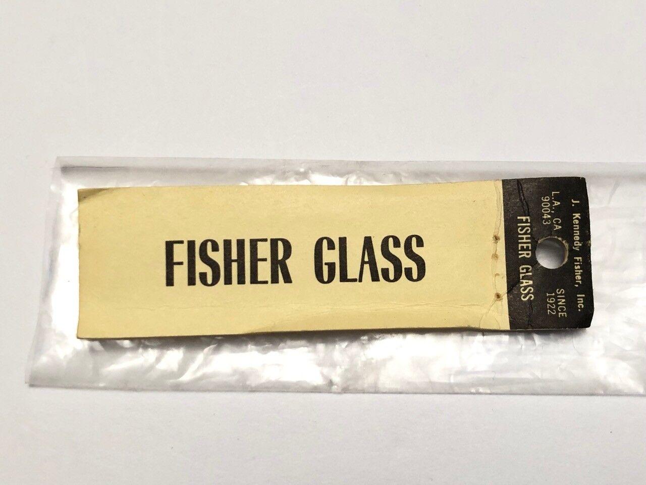 FISHER GLASS - Fiberglass Fly Rod Blank - 8' 5wt - Original