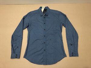Diesel-Polo-Shirt-Mens-Size-Small-New-w-Tags-L-S-Geometric-Design-Slim-Fit