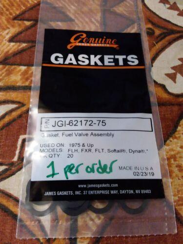 James Gasket Fuel Valve Assembly JGI-62172-75 1975-UP HARLEY FLH FLT QTY1 NS430D