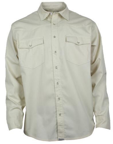 Western-memoria Jeans Camicia Beige MADREPERLA Bottoni Camicia in colore s-4xl