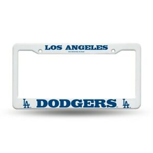 Los Angeles Dodgers White Plastic License Plate Frame Ebay