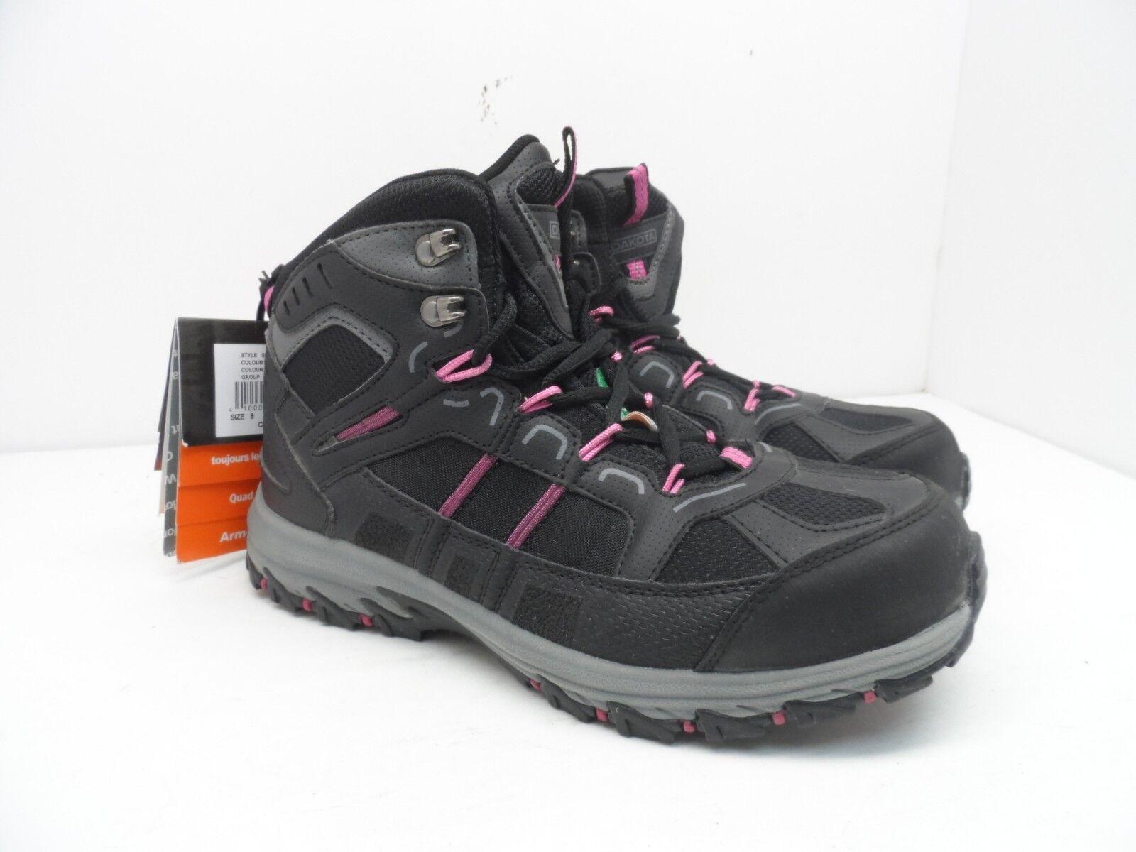 DAKOTA Women's Mid-Cut Aluminium Toe Composite Plate Work Boots Size 8EE