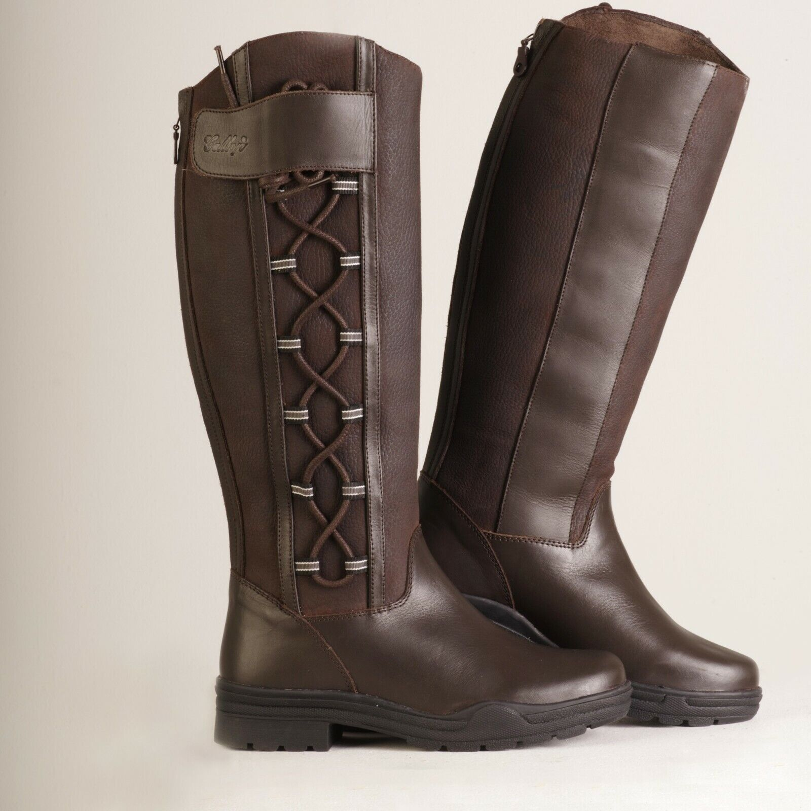 nouveau 2019 Gateley Long cuir marron Equestrian Country bottes for Horses and Dogs