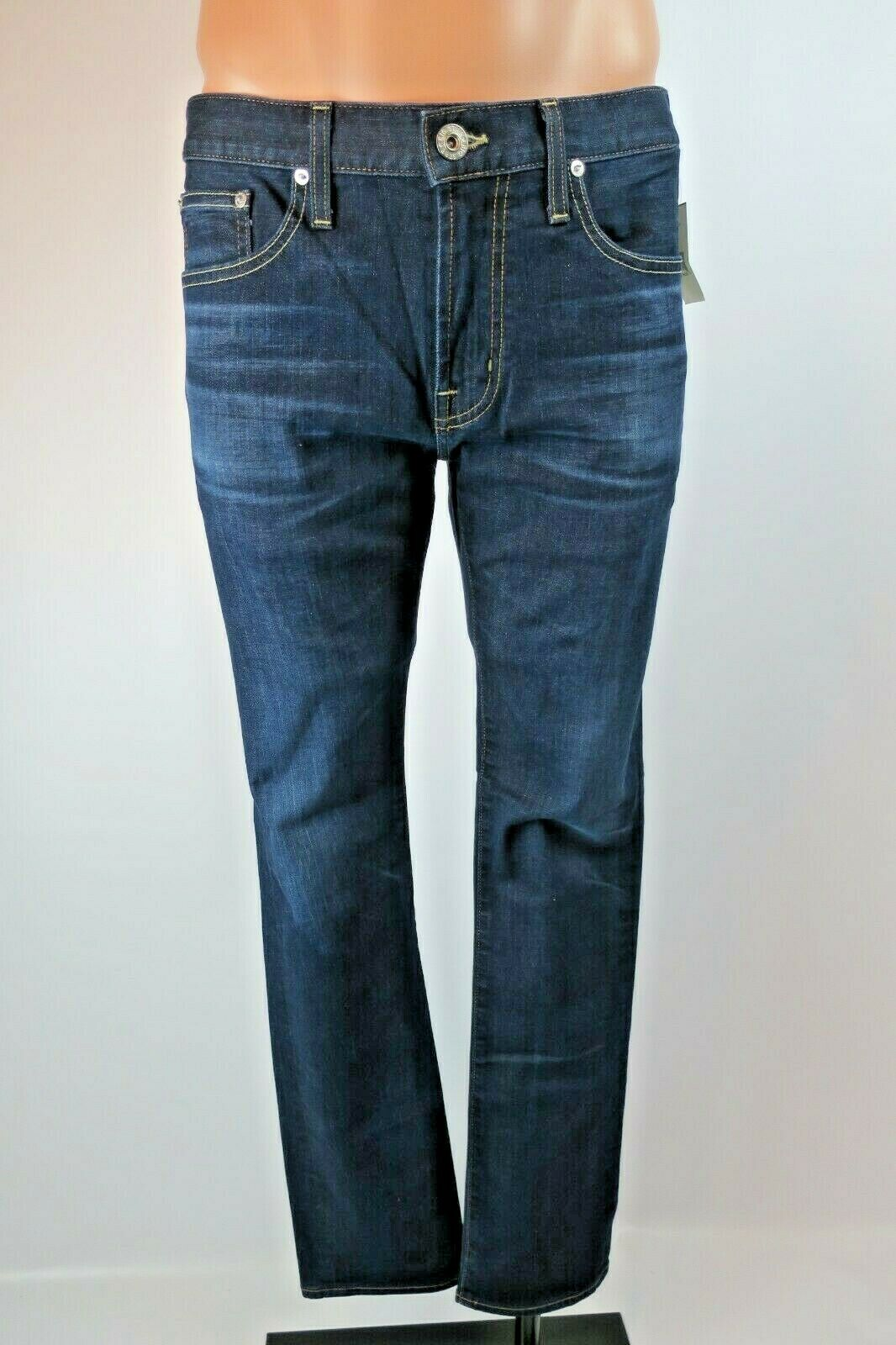 BIG STAR Legend Dark Wash Jeans Stretch Men SAMPLES 34x32 Distressed Denim NWT