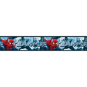 SPIDERMAN-TEAM-UP-BORDURE-DE-PAPIER-PEINT-AUTOADHESIVE-5M-LONG-CHAMBRE-D-039-ENFANT