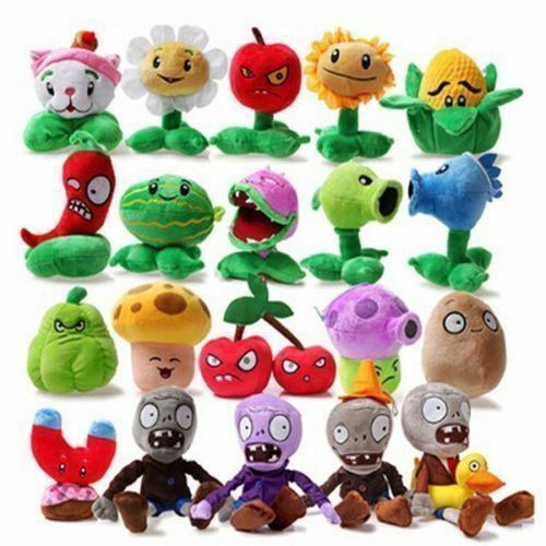 Cute Doll Set of【10】【 14】【18】【20】Plants vs Zombies 1or 2 Plush Toy Doll 14~28cm