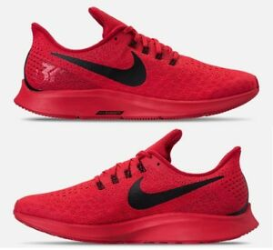 166f0cf5f293 NIKE AIR ZOOM PEGASUS 35 MEN RUNNING RED - BLACK AUTHENTIC NEW IN ...