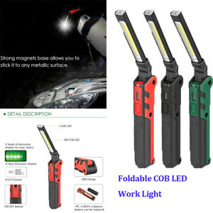 LED Work Light COB Inspection Lamp Magnetic Torch USB Rechargeable Car Garage UK