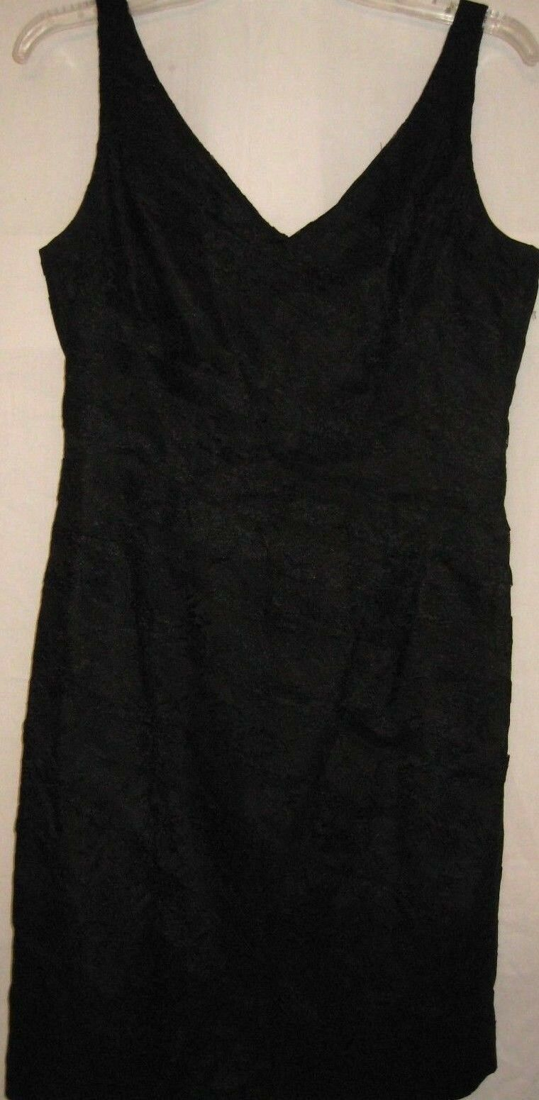Ann Taylor Little schwarz Dress Lace Größe 10P Petite Sleeveless Clubbing Holiday