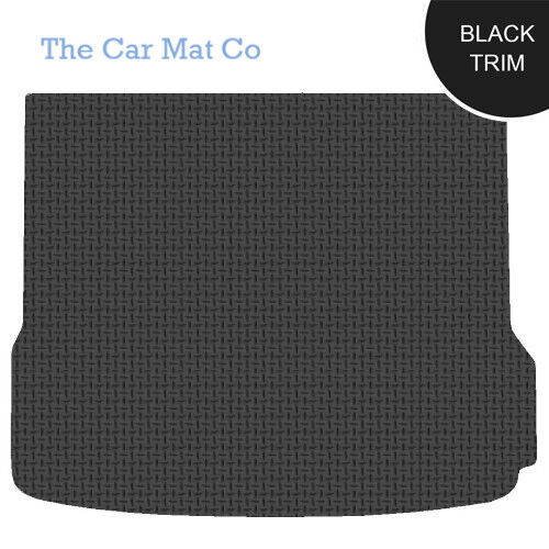 Fully Tailored Black Rubber Boot Mat With Black Trim For Audi Q5 2008-2016