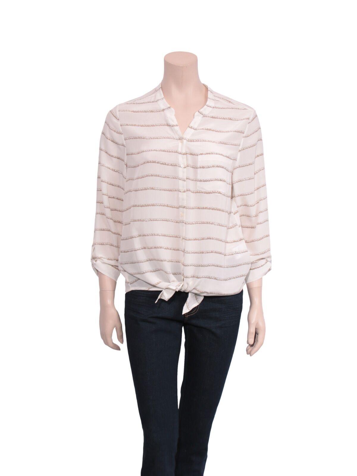 JOIE Silk Button-Up Blouse (Größe S)