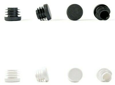 BLACK or WHITE Made in Germany 34mm Round Tube Inserts Blanking End Edge Caps