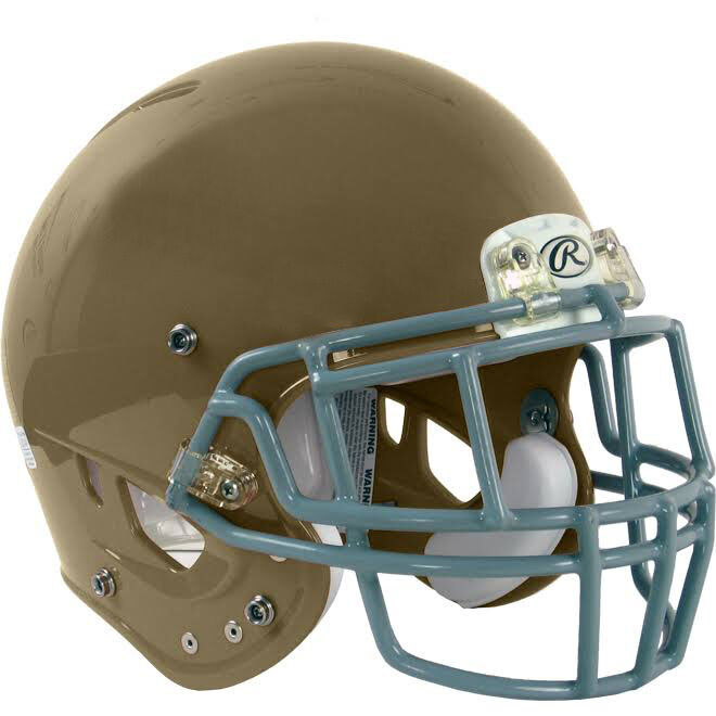 New Rawlings NRG Impulse helmet facemask adult small S football w faceguard gold
