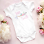 Personalised-Girl-Baby-Clothing-Vest-Babygrow-Baby-Shower-Gift-Any-Surname thumbnail 2