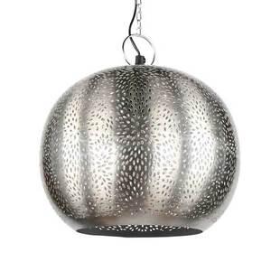 ORIENTLAMPE orientalische Hängelampe Silber indische Lampe ...