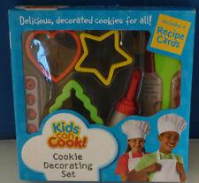 Kids consentono di cucinare! bambini Cookie Decorazione Set & recipe CARDS NUOVO E SIGILLATO!!