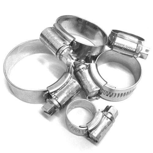 17 mm A 25 mm Hi-grip Drive Worm Tubo Clip Jubilee Jcs-BS5315-zincato