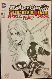 DC-Comics-HARLEY-QUINN-1-Original-Art-Sketch-Cover-BATMAN-GOTHAM-JOKER-CATWOMAN