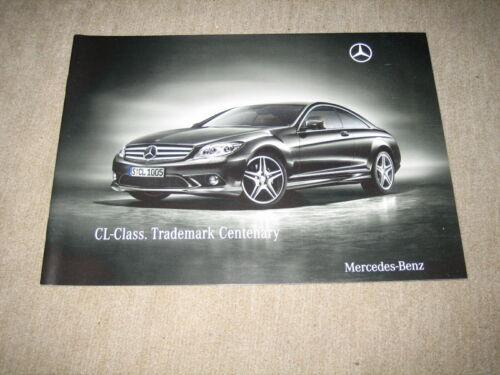 MERCEDES CL-Class Trademark Centenary C 216 prospectus brochure de 4//2009
