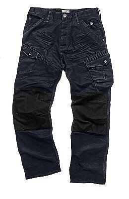 Ingegnoso Scruffs Drezna Jeans Denim Commerciali Lavoro Pantaloni Tasconi Ginocchio Pad Tasche-mostra Il Titolo Originale