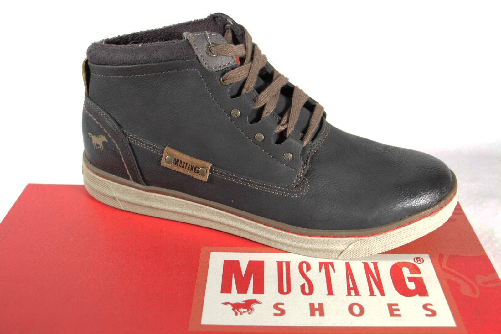 Mustang Stiefel Boots Schnürstiefel grau Stofffutter Wechselfußbett 4068 NEU
