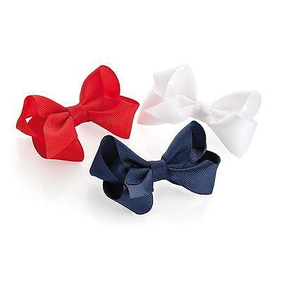 3x Per Neonate Capelli Bow Clip Fermagli Capelli Fiocco Piccolo Bambine Neonati Bow Clip-mostra Il Titolo Originale