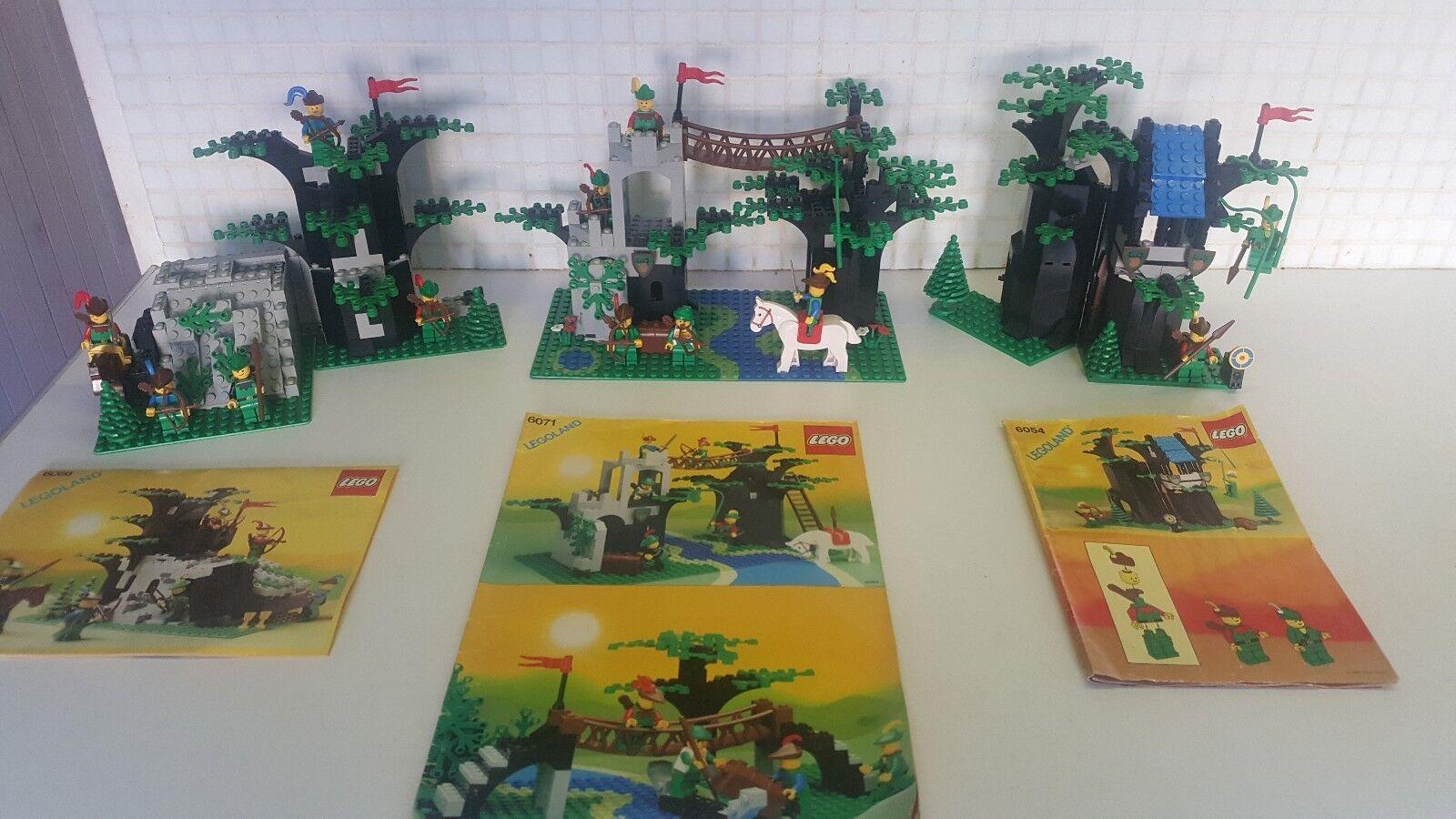 Vintage LEGO 6066 6071 6054 Castle Forestmen Robin Hood  Complete
