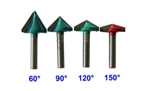 3pcs CNC Router 3D Wood Engraving Bit Woodworking Bit 6mmx32mm 90° 90 Degree