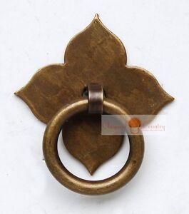 4set Furniture Brass Hardware Drawer Pull Cabinet Handle Door Ring 3 Colors Le Prix Reste Stable
