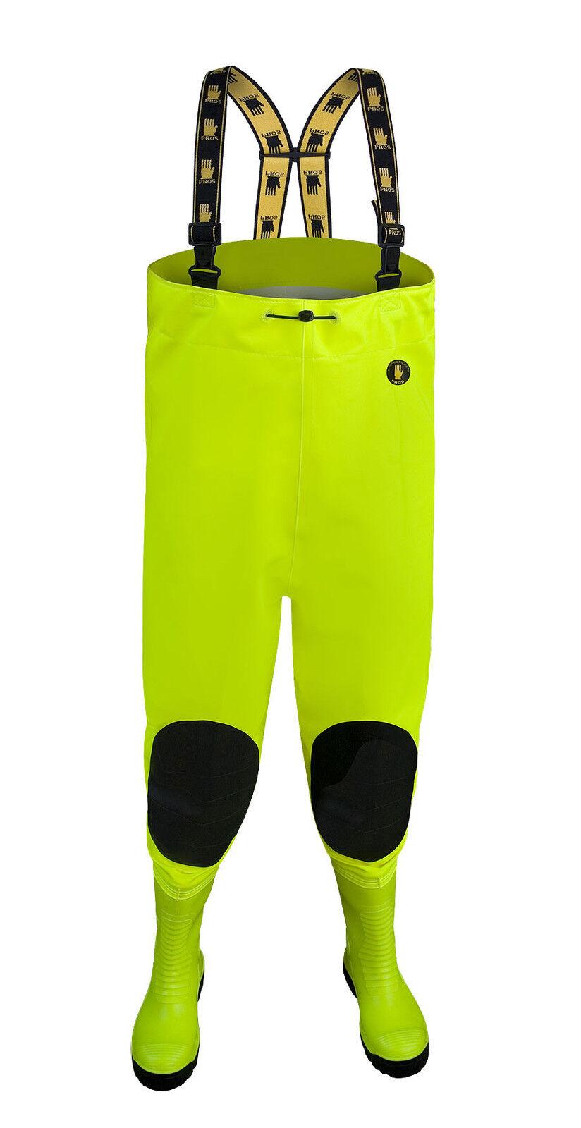 Anti-cut Waders Fluo Fluorescent Steel Cap Fishing Trousers Hi Vis Fishing Trousers