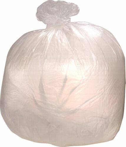 10 mic./'/' 33 gallon Trash Bag /'/'Clear 500 Count 33 x 40 Medium Duty