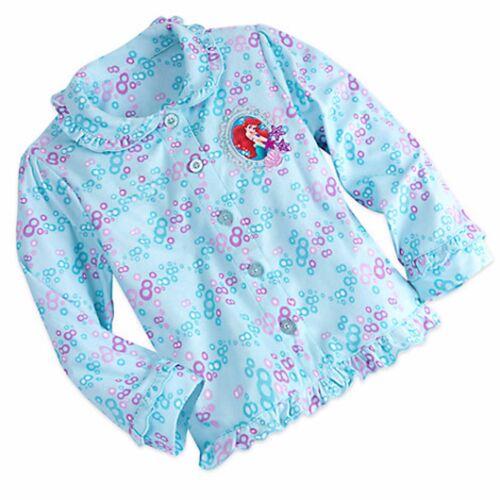 Disney Store Ariel The Little Mermaid 2 Pc  L//S Top Pants Pajama Set 5//6 Girls