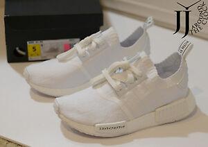 New Adidas NMD R1 PK Japan Triple White Nomad Primeknit BZ0221 SIZE ... 9a4ee44fb