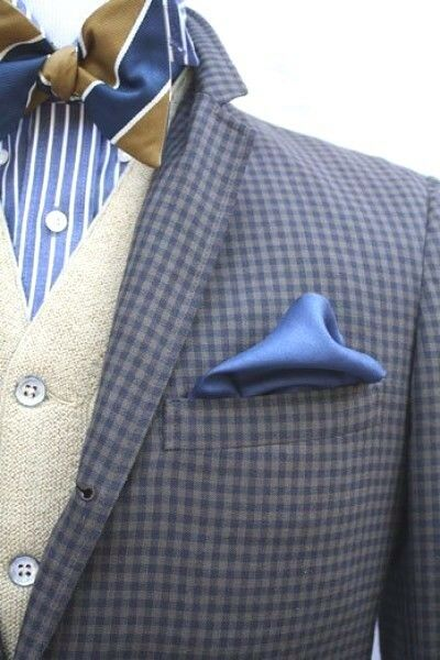 Bloomingdales Mens Handkerchief Light Blue Solid Casual Dress Pocket Square