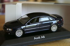 minichamps 1:43 AUDI A8 D3 NoOVP blue blau Int:black schwarz dark grey 2 4 0 s8