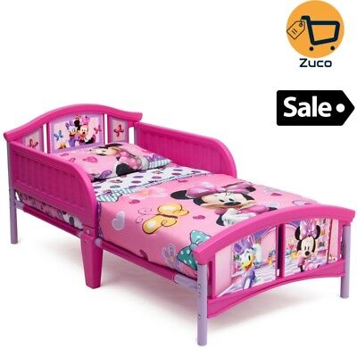 Kids Minnie Mouse Toddler Bed Bedroom Furniture w Safety ...