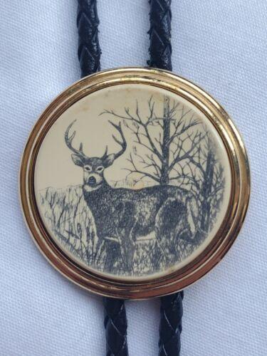 Barlow Scrimshaw Buck Deer Tie Tack