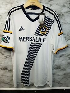 premium selection 918e0 e5047 Details about Adidad LA Galaxy Home Jersey Mens XL RARE New with tags  Herbalife Embroidered