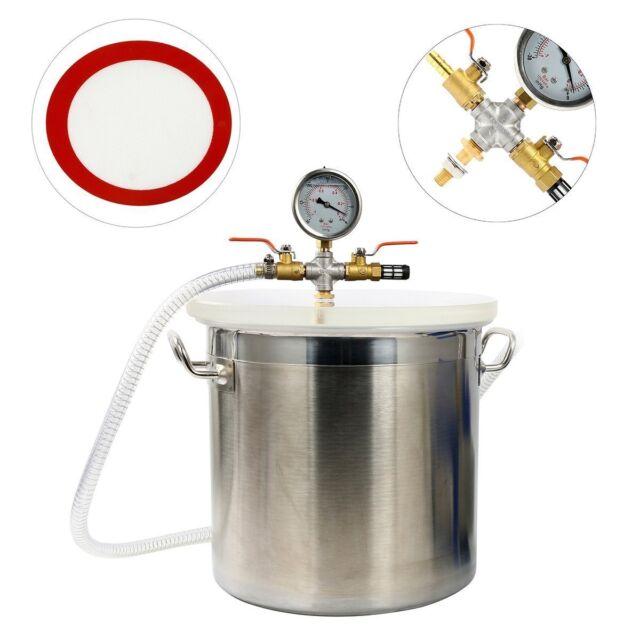 5 Gallon Stainless Steel Vacuum Degassing Chamber Vacuum Chamber 5 G Chamber Kit