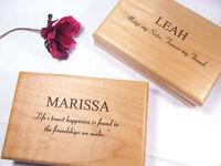 Personalized Engraved Jewelry Box Bridesmaid Maid Of Honor Wedding Keepsake Gift