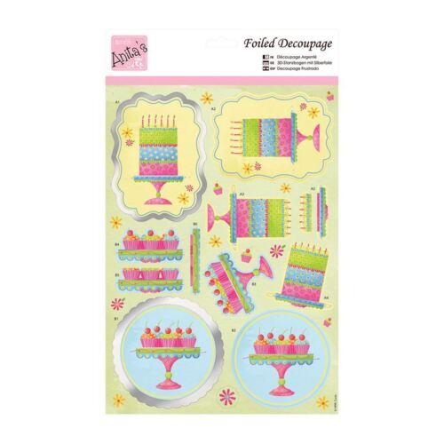 Anitas déjouée decoupis temps pour gâteau toppers pour cartes et artisanat