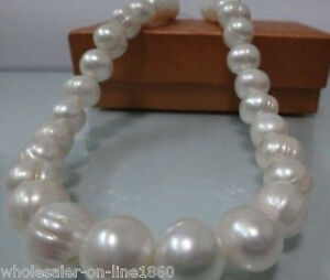 GENUINE-10-11MM-NATURAL-WHITE-SOUTH-SEA-BAROQUE-PEARL-NECKLACE-18-034