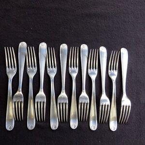 Christofle-12-Gabeln-Tisch-Versilbertes-Metall-Modell-Schale-Berain-4