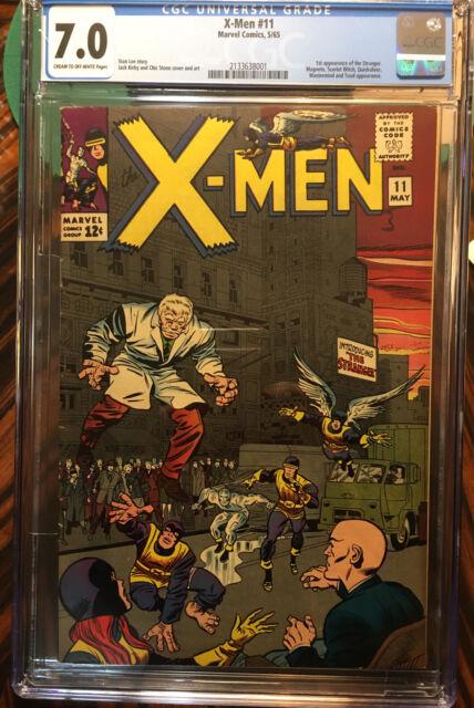 The X-Men #11 CGC 7.0 1st Stranger App Magneto Scarlet Witch Stan Lee Jack Kirby