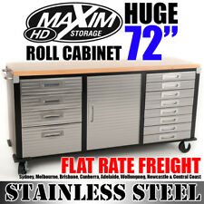 MAXIM HD 72 inch Timber Top Roll Cabinet PI242E Stable Mobile Tool Storage Box