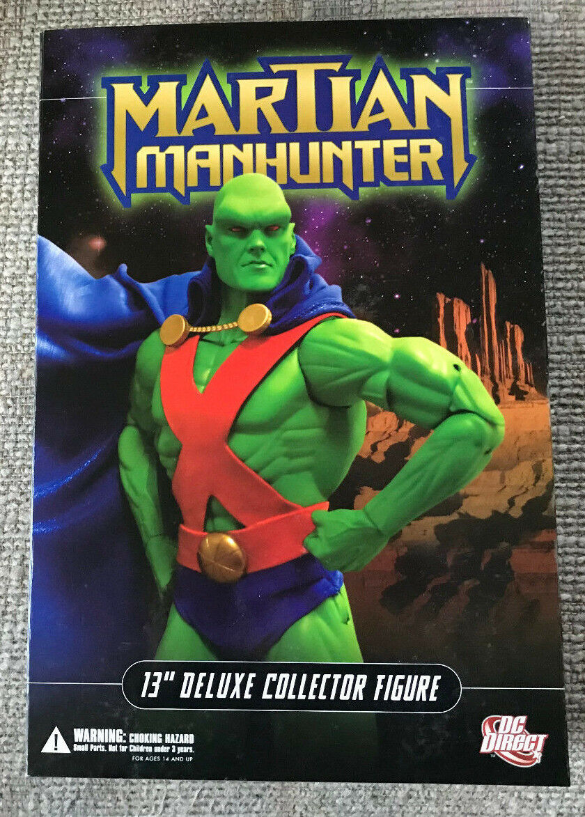 DC DIRECT 13  DELUXE COLLECTOR EDITION MARTIAN MANHUNTER WITH BOX 1 6 SCALE