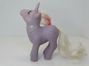 My Little Pony Powder G1 Unicorn Purple With White & Hot Pink Mane Snowflakes