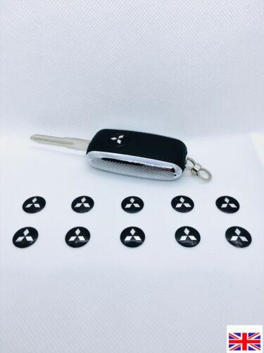 KeyDIY Remote Logo Badge Fob Emblem 14mm Mitsubishi x 10